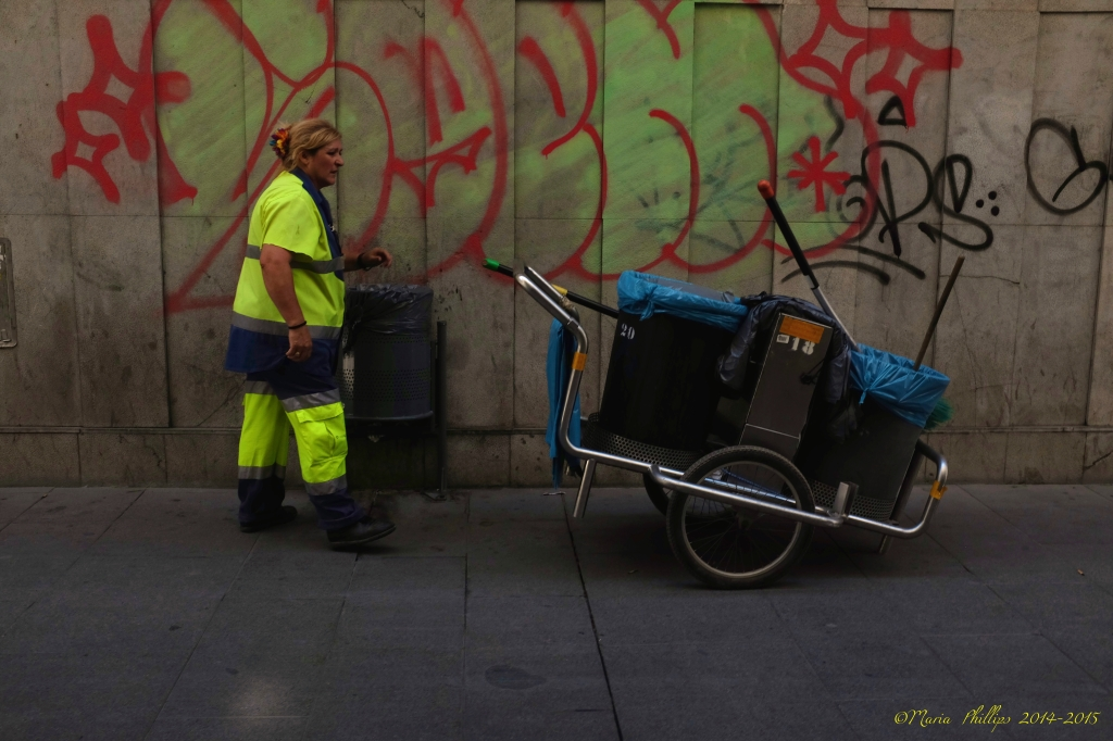 Woman with Dustcart