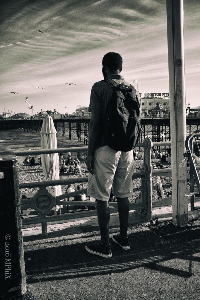 Watching the Sea BW Vintage_MPHIX