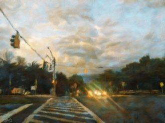 Germantown - Corner of Great Seneca and Mateny 1a- Oil Painting - Hand Signed