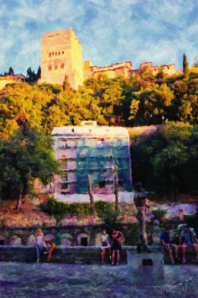 Granada - Sketches in Colour - El Bailarin 3_Signed