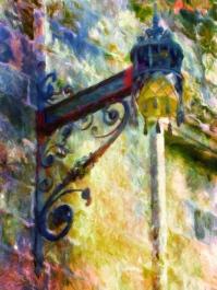 Spain - Art Nouveau Lamp Shade - Santiago de Compostela - Oil Painting 2_SIGNED