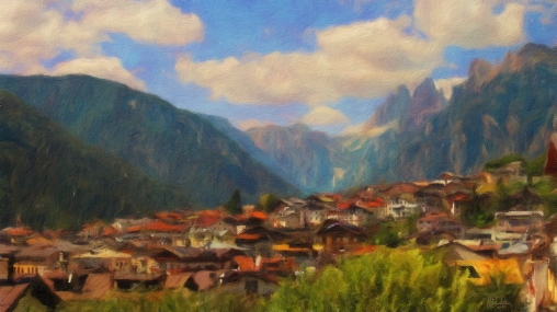 Veneto - Auronzo di Cadore 1 - Oil Painting - Hand Signed