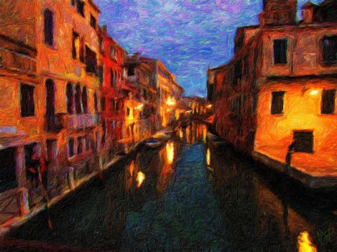 Venice - Cannaregio 2016 1b - Oil Painting - Hand Signed