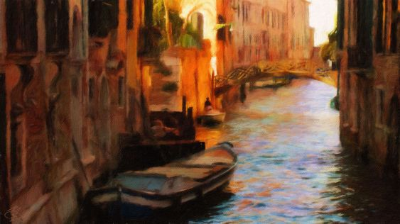 Venice - Hidden Gem 1a - Oil Painting - Hand Signed